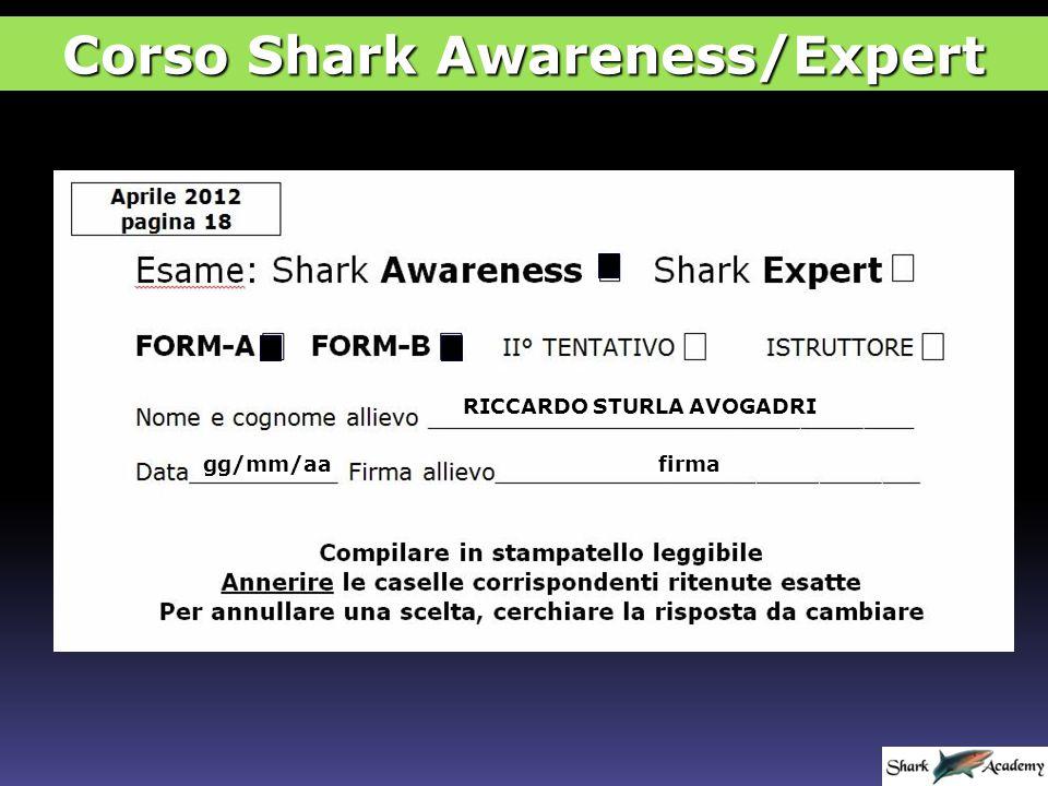 Corso Shark Awareness/Expert o 100