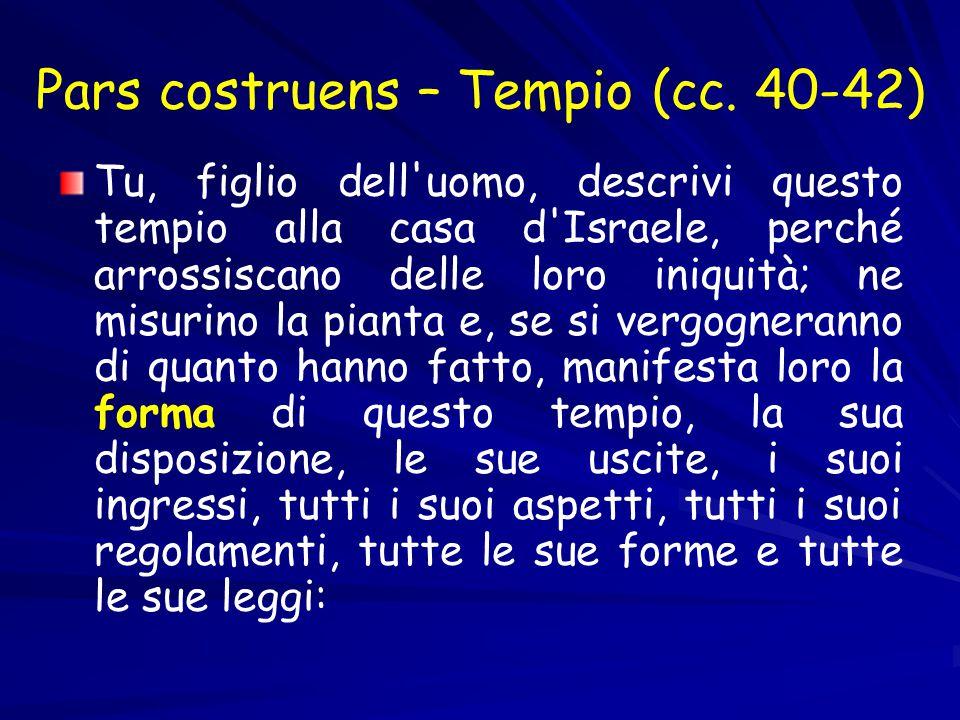 Pars costruens – Tempio (cc.