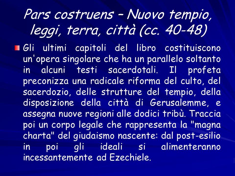 Pars costruens – Nuovo tempio, leggi, terra, città (cc.