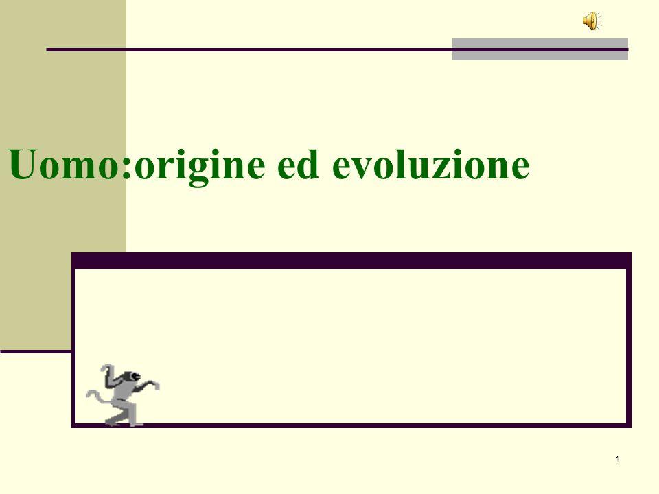 1 Uomo:origine ed evoluzione