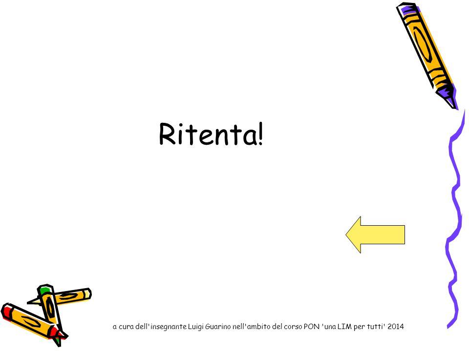 Ritenta! a cura dell'insegnante Luigi Guarino nell'ambito del corso PON 'una LIM per tutti' 2014