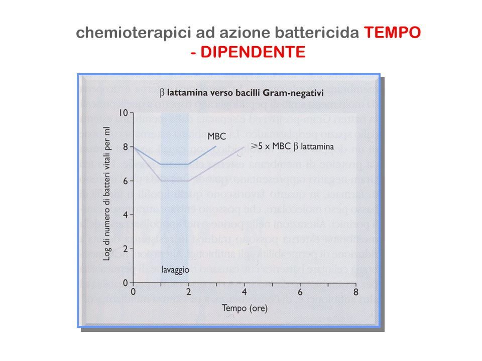chemioterapici ad azione battericida TEMPO - DIPENDENTE
