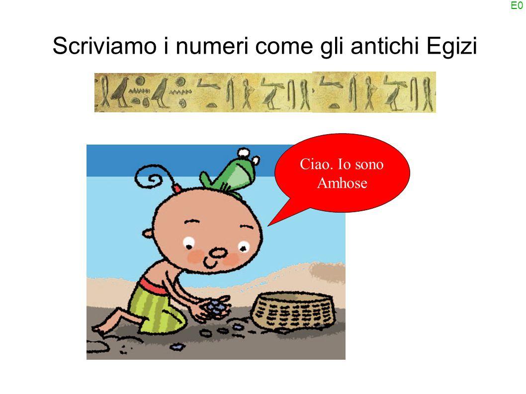 E0 Scriviamo i numeri come gli antichi Egizi Ciao. Io sono Amhose