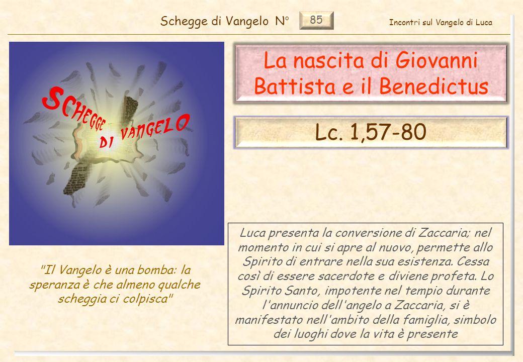 85 La nascita di Giovanni Battista e il Benedictus Schegge di VangeloN°