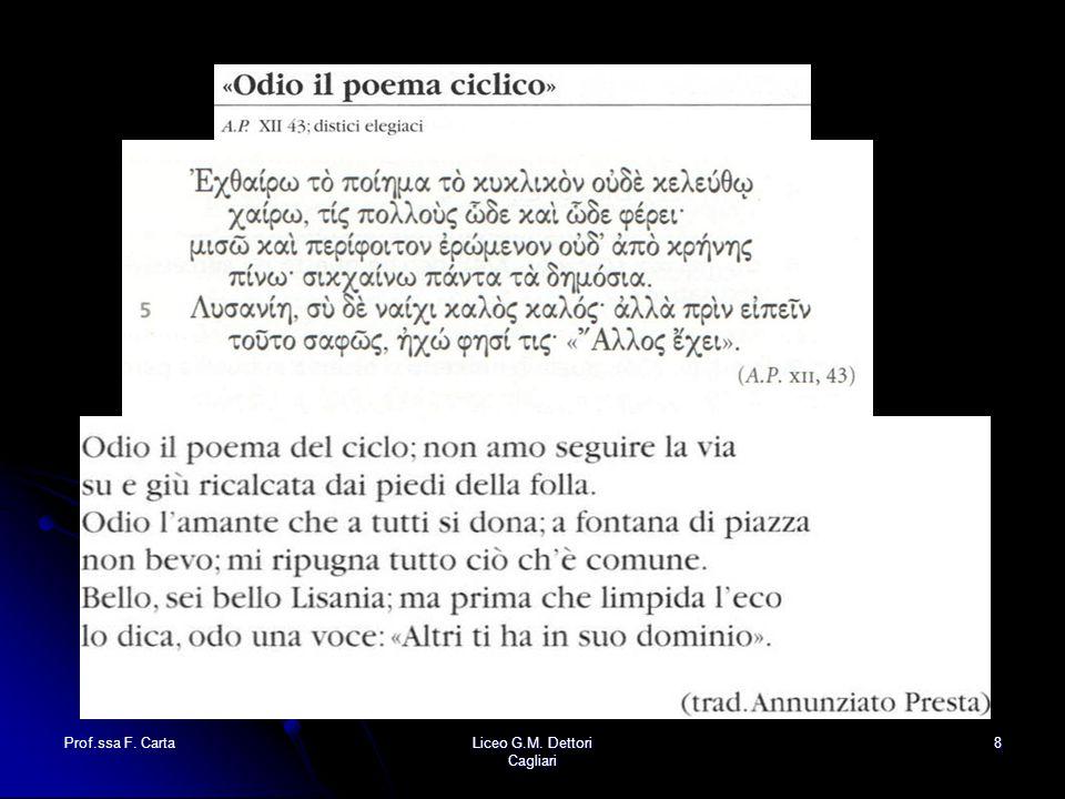 Prof.ssa F. CartaLiceo G.M. Dettori Cagliari 8