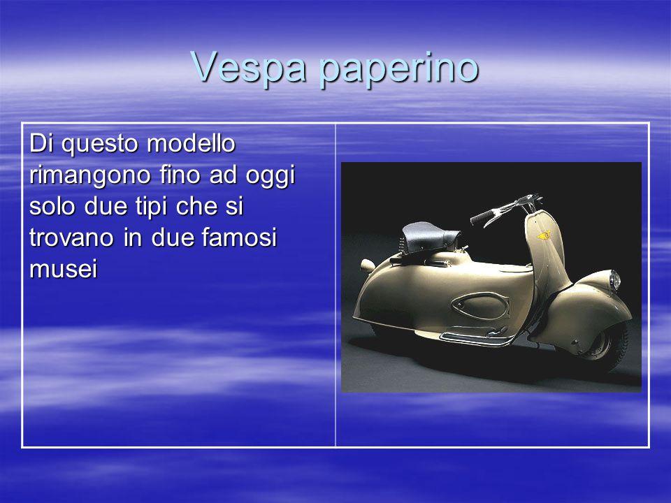 Vespa 125 racing Creata nel 1948, era il primo prototipo di una vespa da corsa.