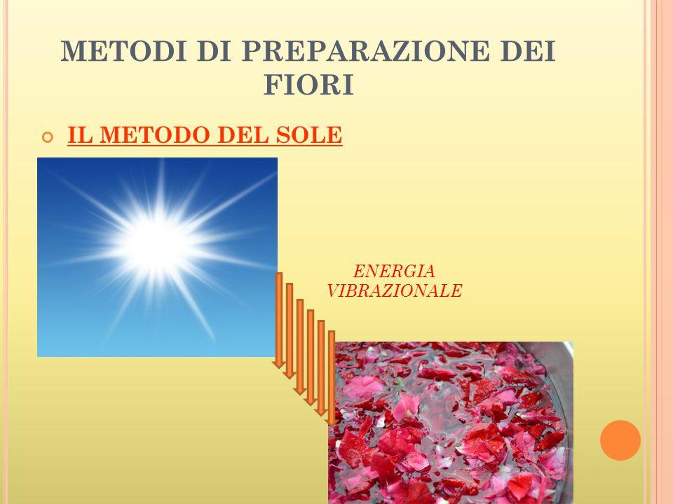 METODI DI PREPARAZIONE DEI FIORI IL METODO DEL SOLE ENERGIA VIBRAZIONALE