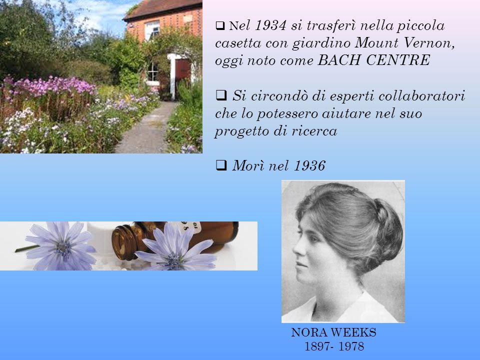  N el 1934 si trasferì nella piccola casetta con giardino Mount Vernon, oggi noto come BACH CENTRE  Si circondò di esperti collaboratori che lo pote