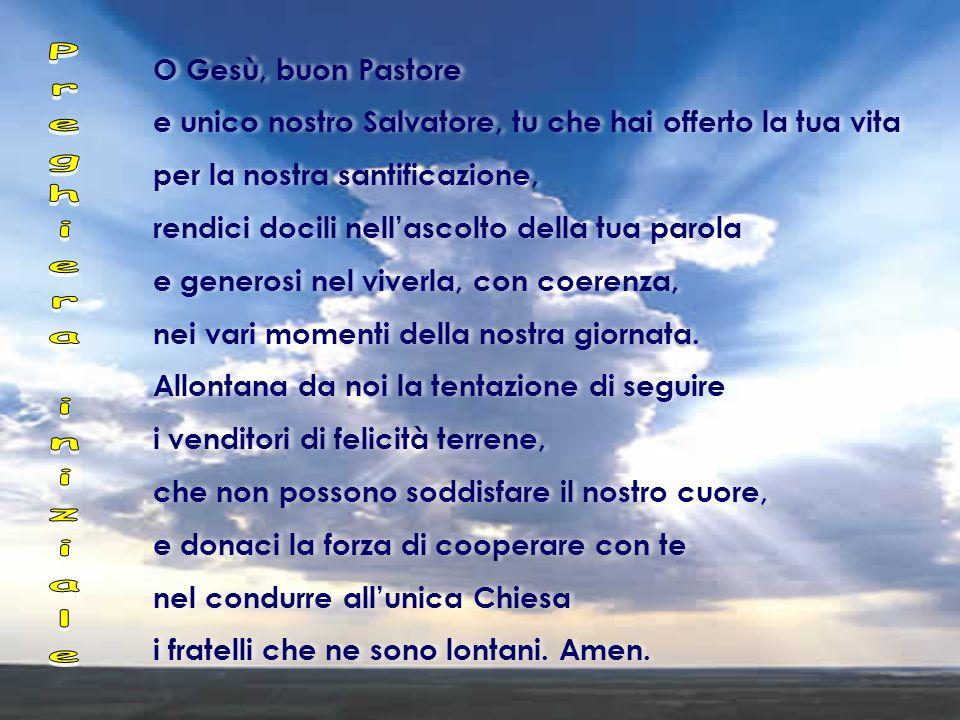 Gv 10,11-18 In quel tempo, Gesù disse: « 11 Io sono il buon pastore.