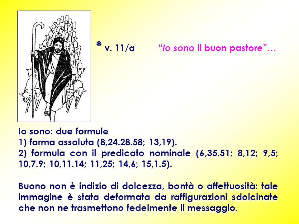 Io sono: due formule 1) forma assoluta (8,24.28.58; 13,19).