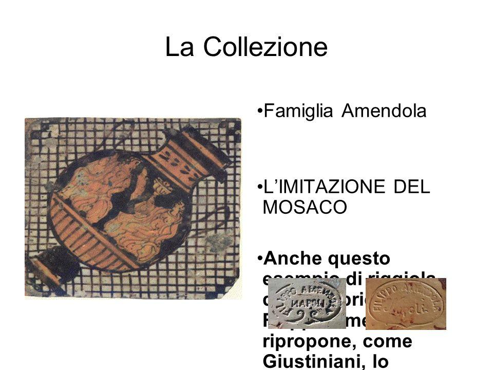 La Collezione Famiglia Amendola L'IMITAZIONE DEL MOSACO Anche questo esempio di riggiola della fabbrica di Filippo Amendola ripropone, come Giustinian