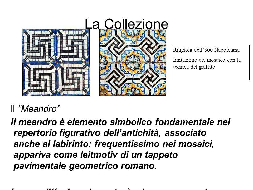 """La Collezione Il """"Meandro"""" Il meandro è elemento simbolico fondamentale nel repertorio figurativo dell'antichità, associato anche al labirinto: freque"""