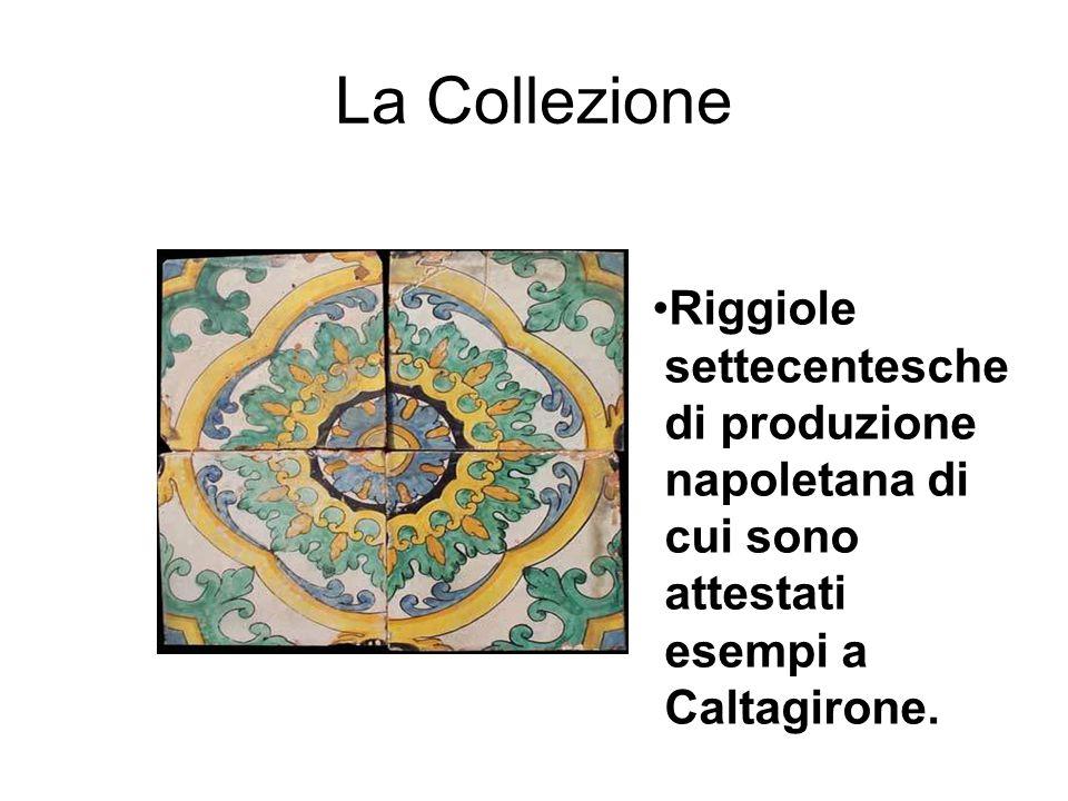 La Collezione Le Riggiole e l'Orientalismo La Rosa orientale Si tratta di una riggiola, prodotta nella seconda metà dell'ottocento dalla fabbrica vietrese Tajani, utilizzata in uno dei pavimenti dello storico palazzo D'Avossa, nel centro storico di Salerno.