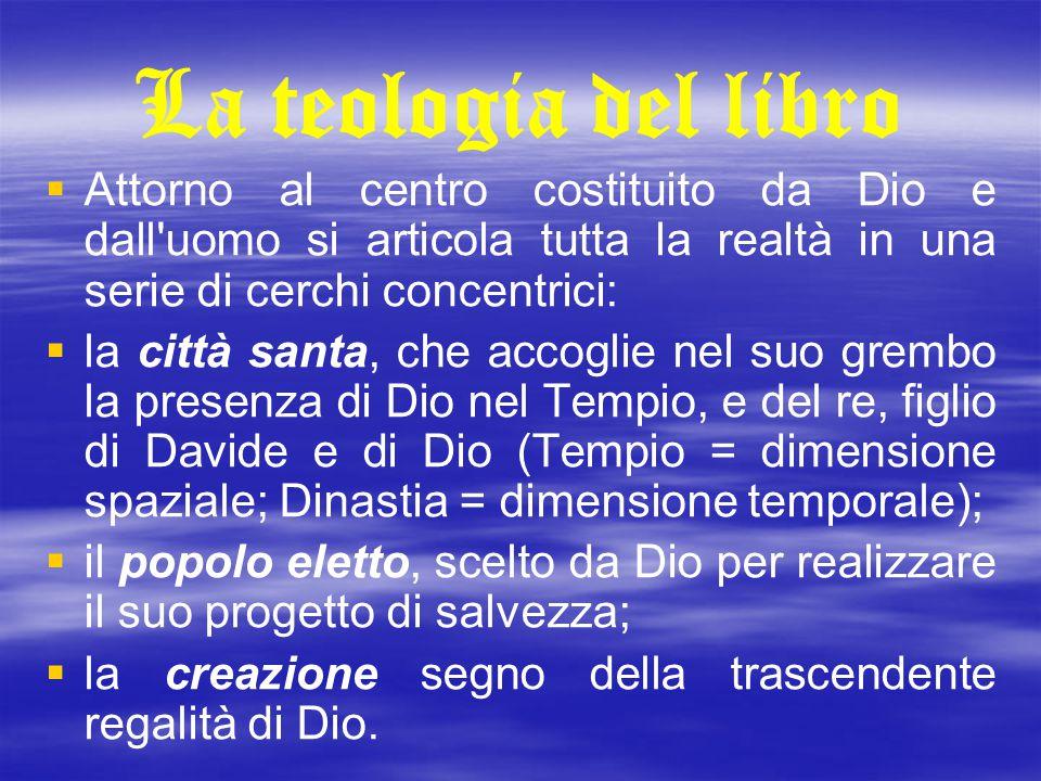 La teologia del libro   Attorno al centro costituito da Dio e dall'uomo si articola tutta la realtà in una serie di cerchi concentrici:   la città