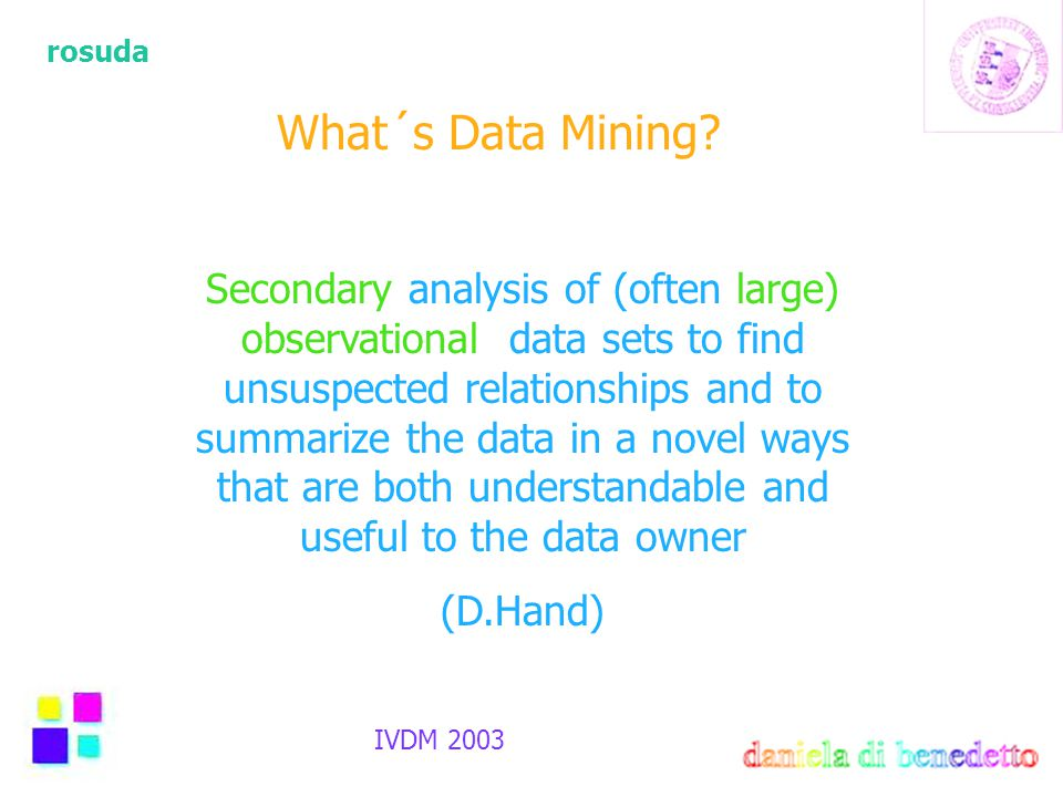 rosuda IVDM 2003 What´s Data Mining.