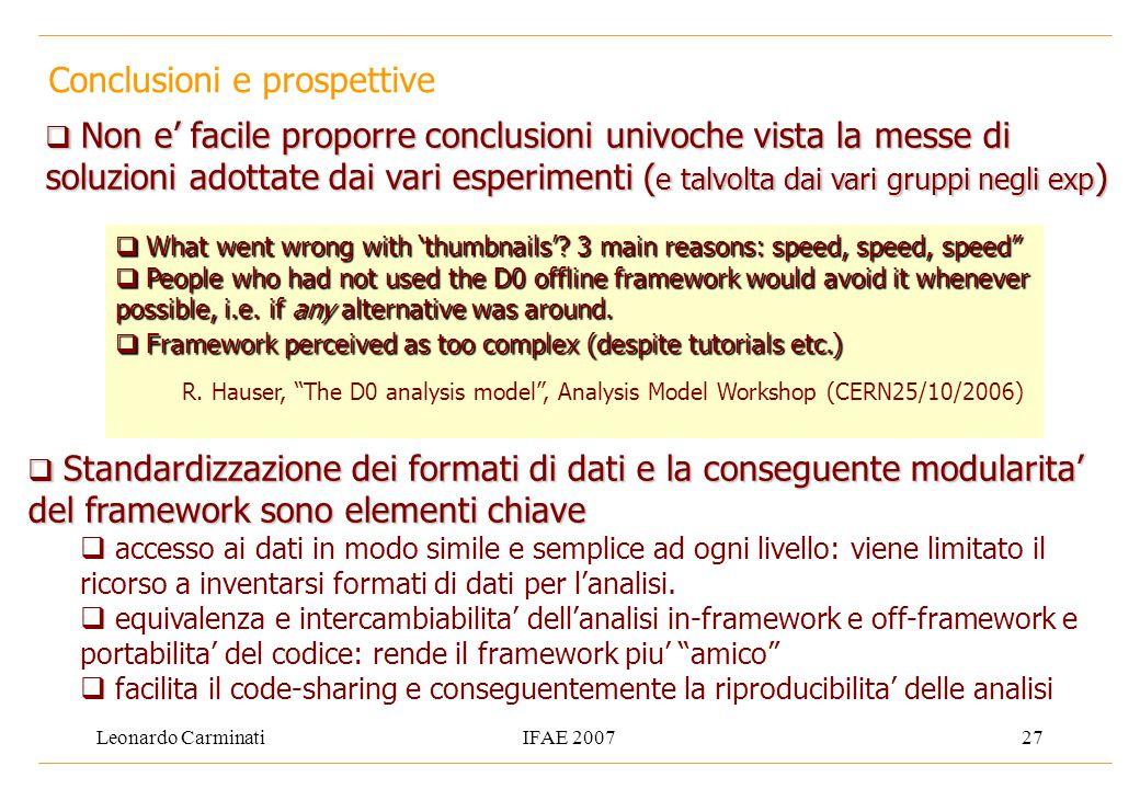 Leonardo CarminatiIFAE 200727 Conclusioni e prospettive  What went wrong with 'thumbnails'.