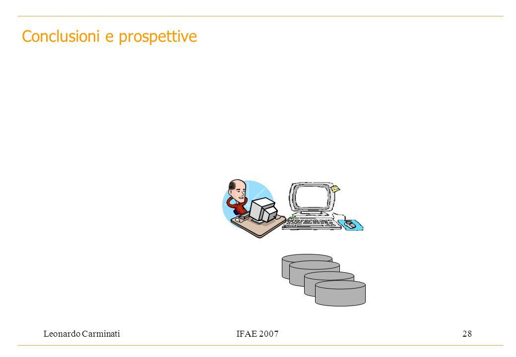 Leonardo CarminatiIFAE 200728 Conclusioni e prospettive