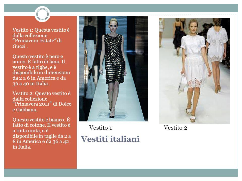 Vestiti italiani Vestito 1: Questa vestito è dalla collezione Primavera-Estate di Gucci.