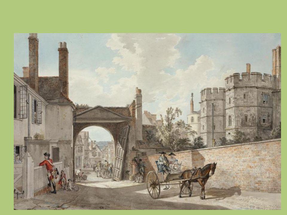 Paul Sandby, Wenlock Abbey, 1770 ca., acquerello su carta, Londra, Royal Academy of Arts La stessa abbazia sarà descritta in Antiquities of England an Wales, di Francis Groses, 1773-87