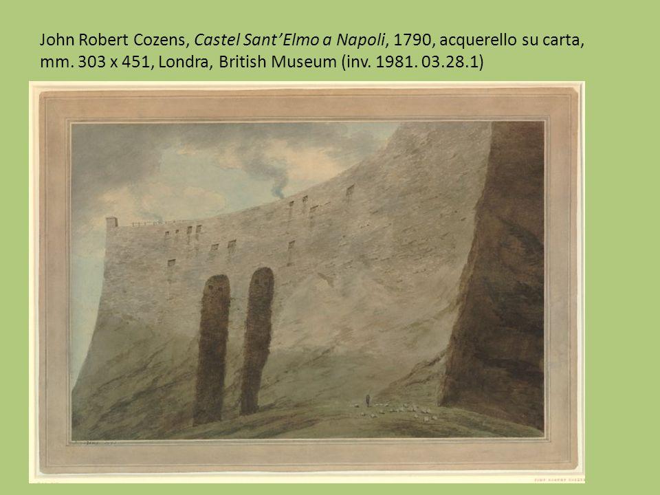 J. R. Cozens, Studi della campagna di Mirabella e di Castel Sant'Elmo dai taccuini di Mancheser