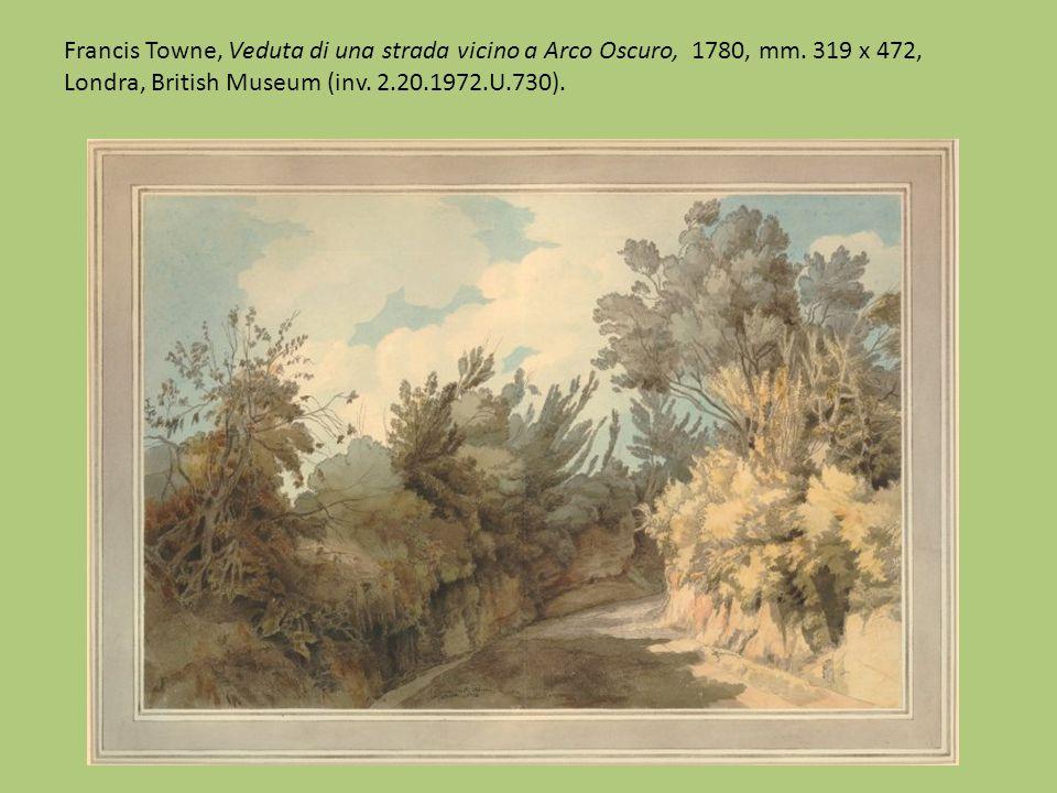 Francis Towne, Veduta di alberi a Palazzo Barberini, 1781, mm.