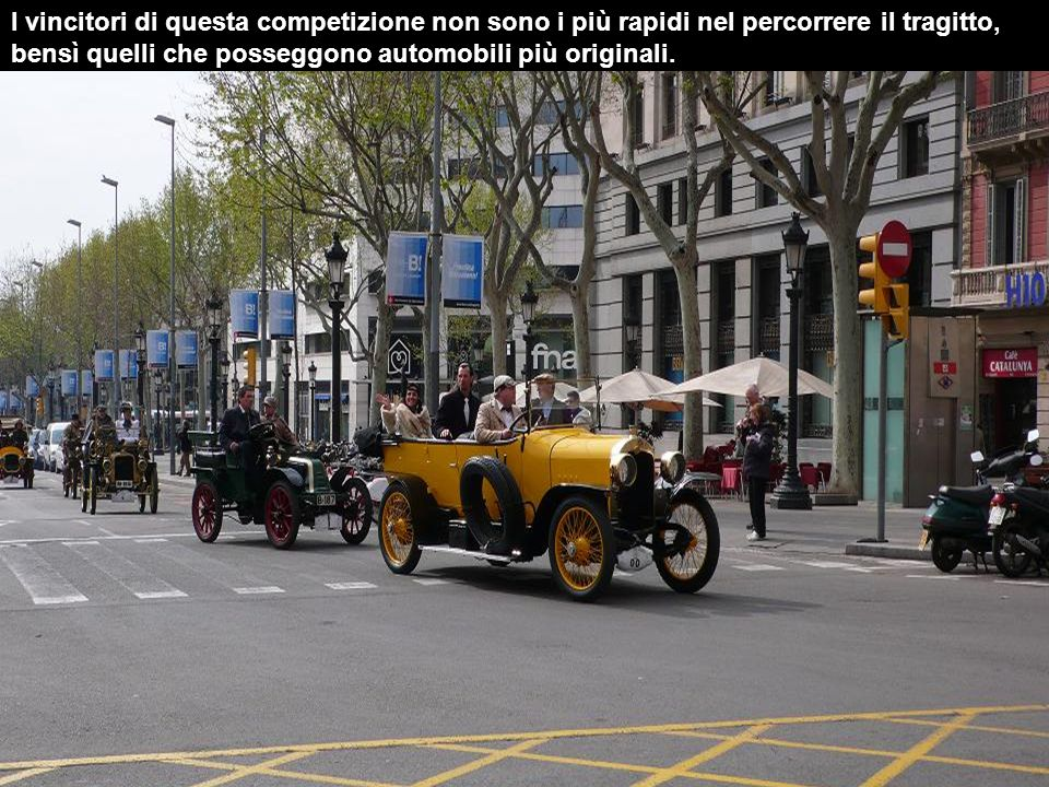 I vincitori di questa competizione non sono i più rapidi nel percorrere il tragitto, bensì quelli che posseggono automobili più originali.