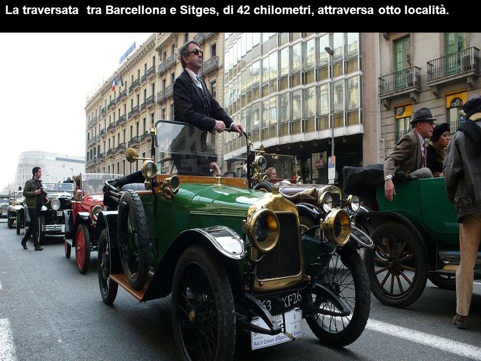 La traversata tra Barcellona e Sitges, di 42 chilometri, attraversa otto località.