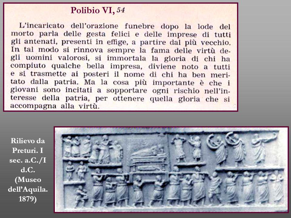 Rilievo da Preturi. I sec. a.C./I d.C. (Museo dell'Aquila. 1879)
