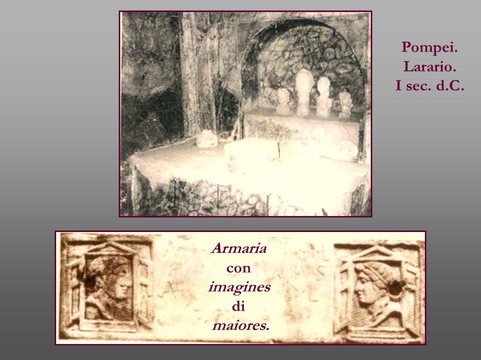 Pompei. Larario. I sec. d.C. Armaria con imagines di maiores.