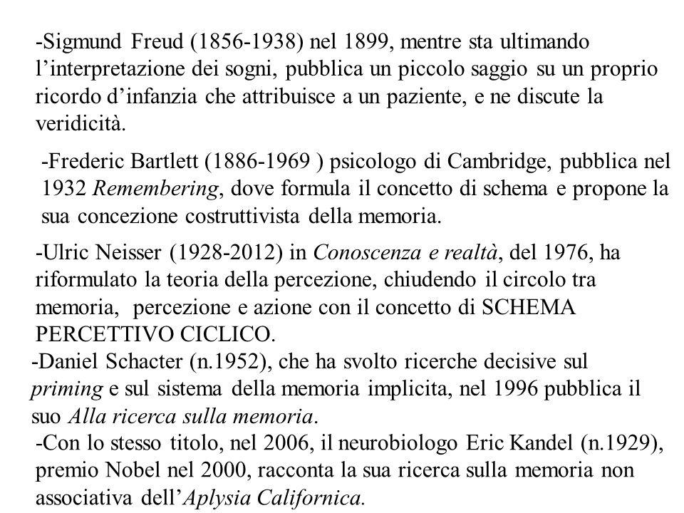 -Ulric Neisser (1928-2012) in Conoscenza e realtà, del 1976, ha riformulato la teoria della percezione, chiudendo il circolo tra memoria, percezione e