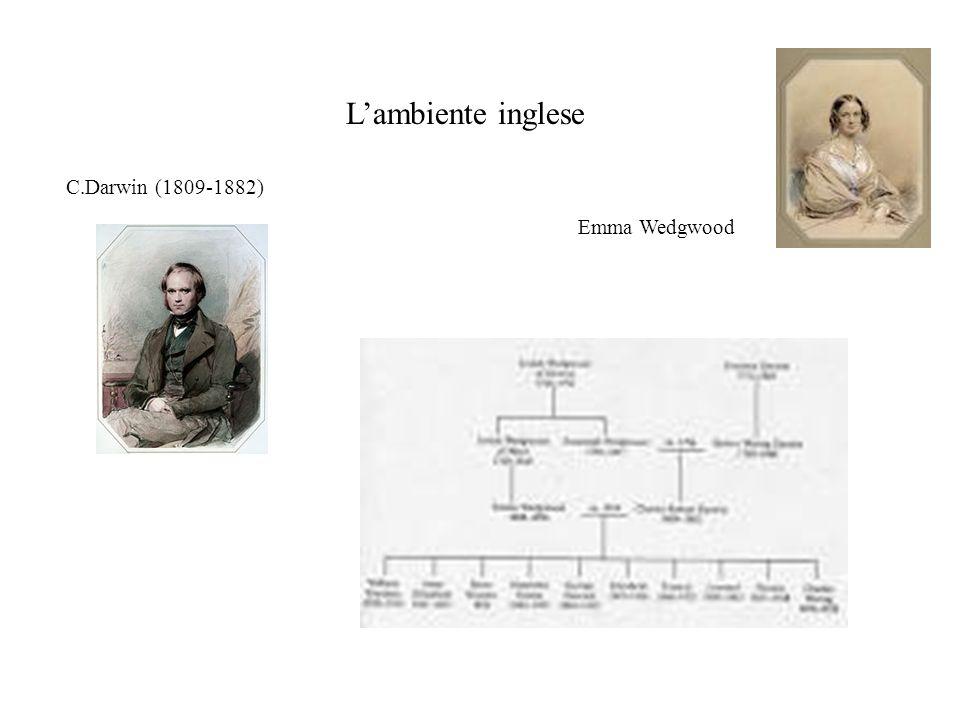 L'ambiente inglese C.Darwin (1809-1882) Emma Wedgwood