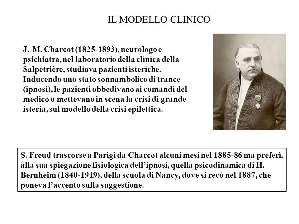 J.-M. Charcot (1825-1893), neurologo e psichiatra, nel laboratorio della clinica della Salpetrière, studiava pazienti isteriche. Inducendo uno stato s
