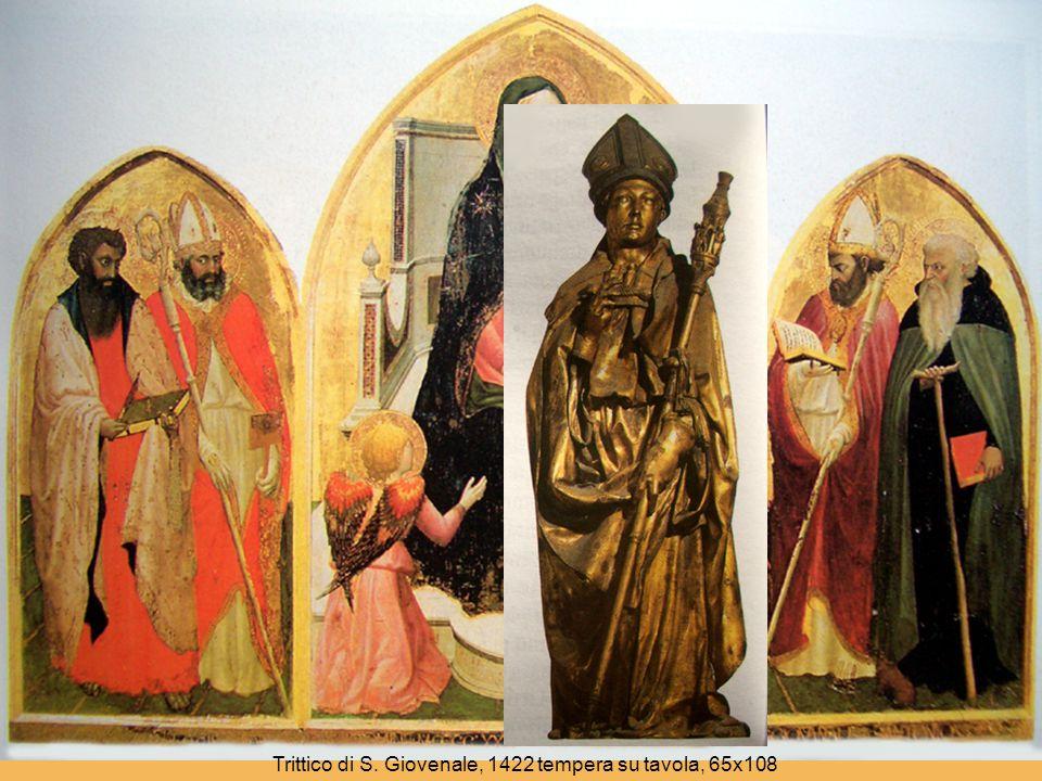 Trittico di S. Giovenale, 1422 tempera su tavola, 65x108