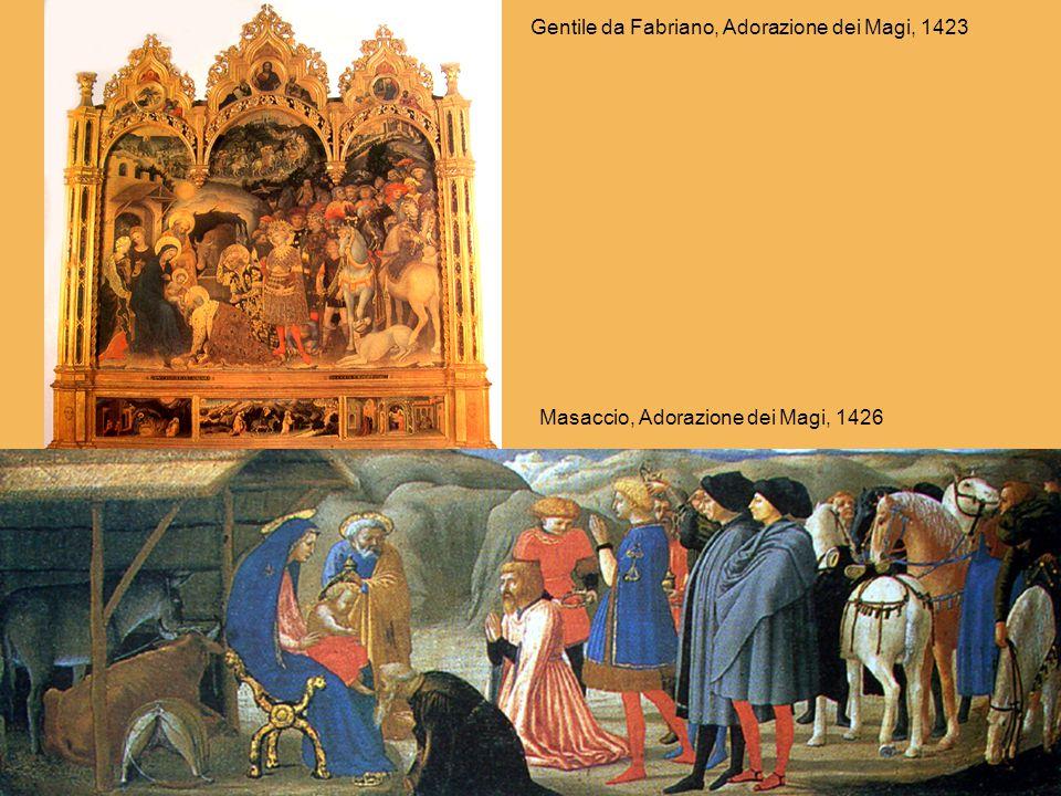 Gentile da Fabriano, Adorazione dei Magi, 1423 Masaccio, Adorazione dei Magi, 1426