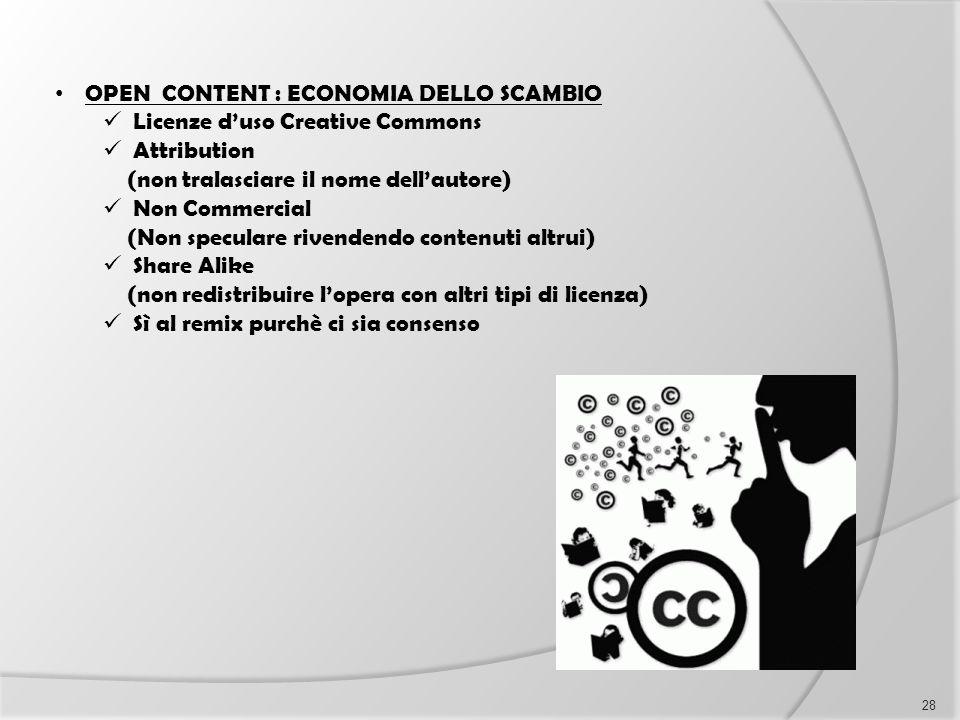 OPEN CONTENT : ECONOMIA DELLO SCAMBIO Licenze d'uso Creative Commons Attribution (non tralasciare il nome dell'autore) Non Commercial (Non speculare r