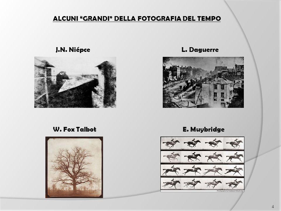 """ALCUNI """"GRANDI"""" DELLA FOTOGRAFIA DEL TEMPO J.N. NiépceL. Daguerre W. Fox TalbotE. Muybridge 4"""