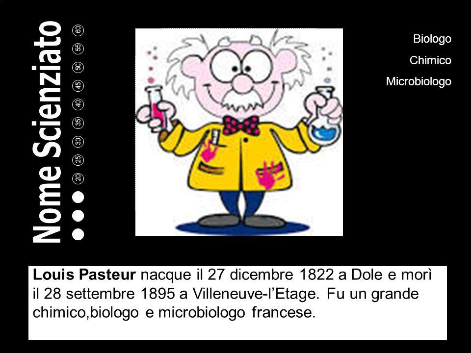 5 10 15 20 25 30 35 40 45 50 55 60 Louis Pasteur A cura di: Deborah Zampieri Scuola: A. Gramsci Bollate Classe: 2°G