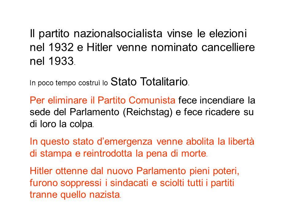 Il sistema repressivo venne rafforzato con la Gestapo( polizia segreta).