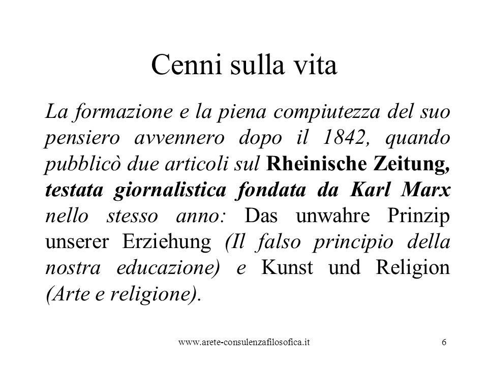 Cenni sulla vita Nel 1845 Stirner diede alle stampe il suo libro più famoso Der Einzige und sein Eigentum ( L unico e la sua proprietà ).