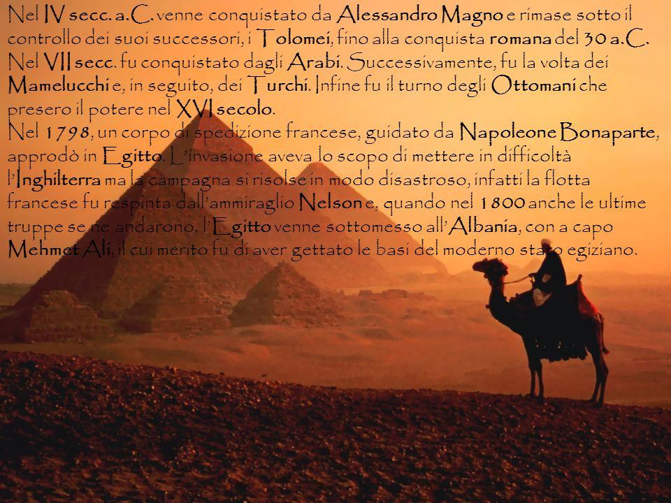 Nel IV secc. a.C. venne conquistato da Alessandro Magno e rimase sotto il controllo dei suoi successori, i Tolomei, fino alla conquista romana del 30