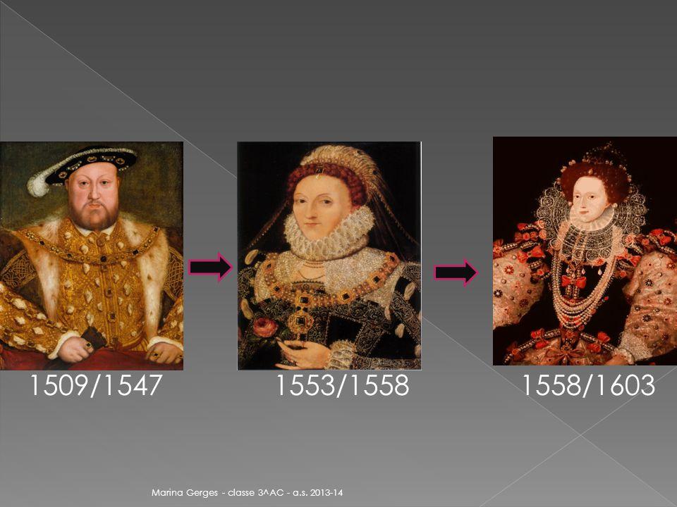 1509/1547 1553/1558 1558/1603 Marina Gerges - classe 3^AC - a.s. 2013-14
