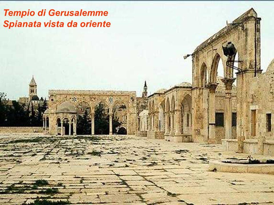 Tempio di Gerusalemme Spianata vista da oriente