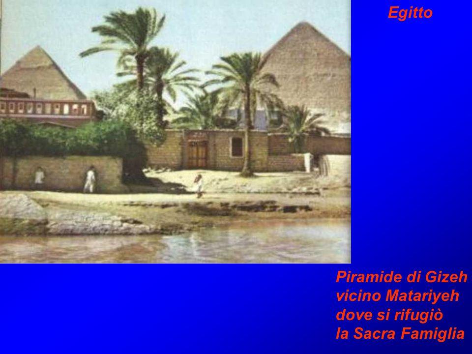 Egitto Piramide di Gizeh vicino Matariyeh dove si rifugiò la Sacra Famiglia