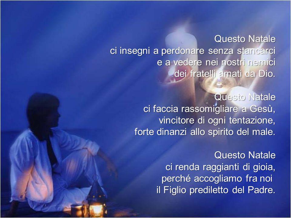 Questo Natale apra il nostro cuore e il nostro spirito al canto degli angeli di Betlemme: Gloria a Dio nel più alto dei cieli .