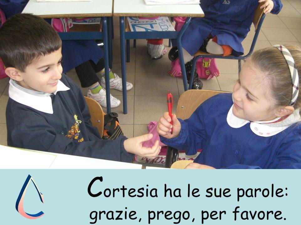 C ortesia ha le sue parole: grazie, prego, per favore.