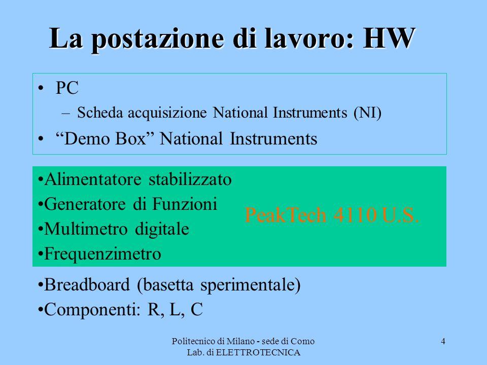 Politecnico di Milano - sede di Como Lab.