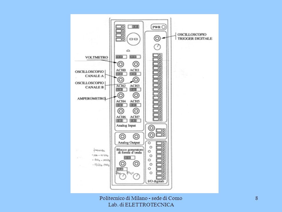 9 Gli strumenti virtuali Voltmetro Amperometro Oscilloscopio Sono dei programmi eseguibili le cui icone si trovano sul desktop: