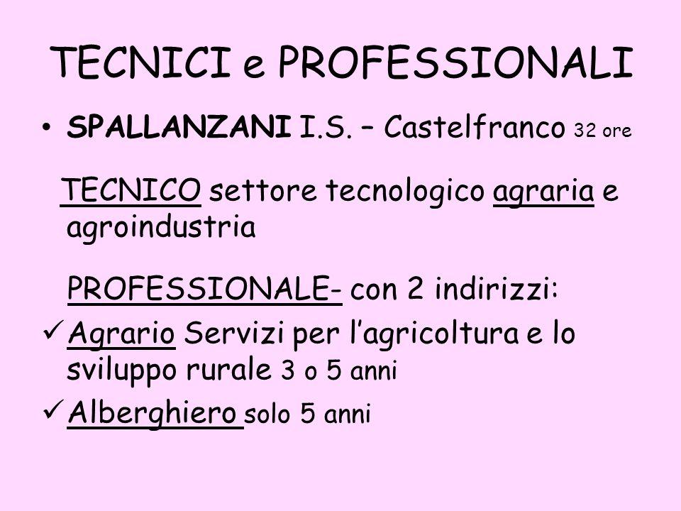 TECNICI e PROFESSIONALI SPALLANZANI I.S.