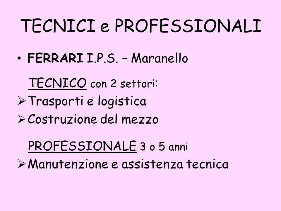 TECNICI e PROFESSIONALI FERRARI I.P.S.