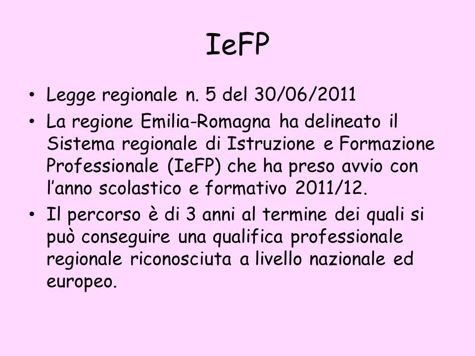 IeFP Legge regionale n.